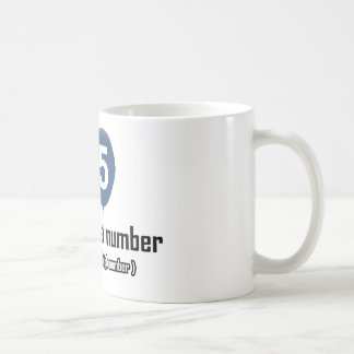 65 year old nothing but a number designs basic white mug