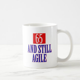 65 years old birthday designs basic white mug