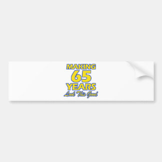65 YEARS OLD BIRTHDAY DESIGNS BUMPER STICKER