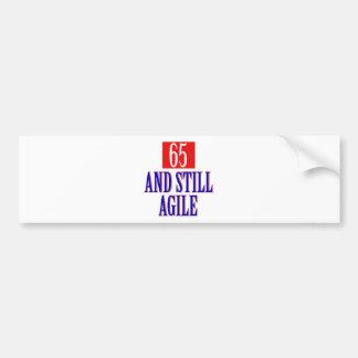 65 years old birthday designs car bumper sticker
