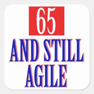 65 years old birthday designs square sticker