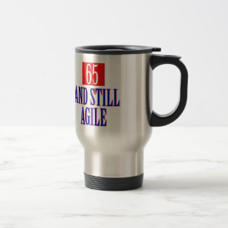 65 years old birthday designs stainless steel travel mug