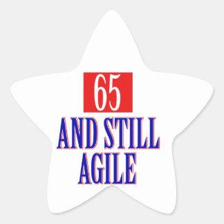 65 years old birthday designs star sticker