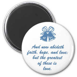 65 Years Wedding Anniversary 6 Cm Round Magnet