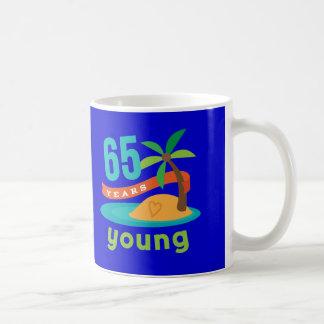 65 Years Young Birthday Gift Basic White Mug