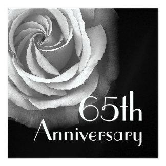 65th Anniversary Invitation - WHITE Rose