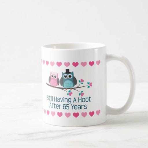 65th Anniversary Owl Couple Mug