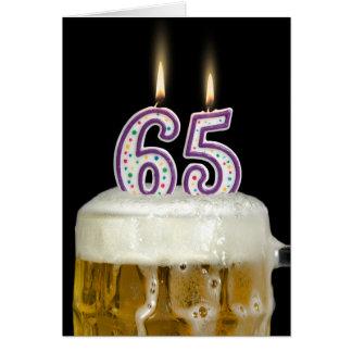 65th Birthday Beer Greeting Card