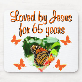 65TH BIRTHDAY BUTTERFLY MOUSE MAT