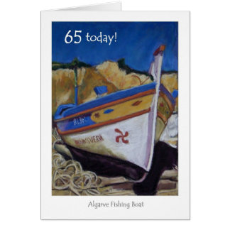 65th Birthday Card - Algarve Fishing Boat
