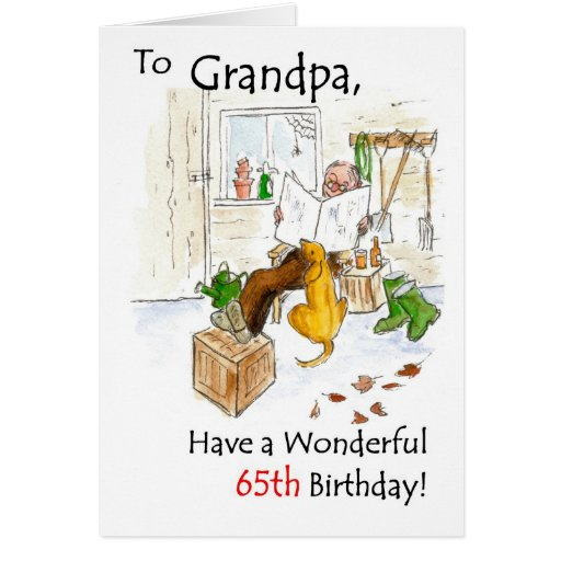 65th Birthday Card for a Grandfather