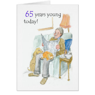 65th Birthday Card for a Man