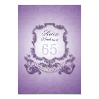65th Birthday Celebration Vintage Frame Invitation