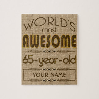 65th Birthday Celebration World Best Fabulous Jigsaw Puzzle