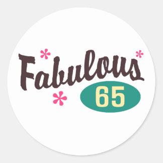 65th Birthday Classic Round Sticker