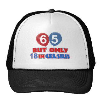 65th birthday designs cap