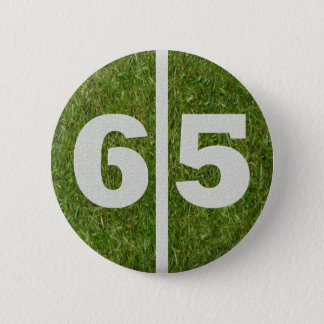 65th Birthday Football Yard Button