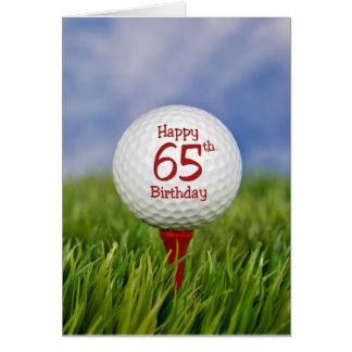 65th Birthday Golf Ball Greeting Card