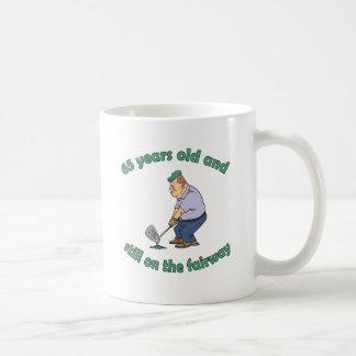 65th Birthday Golfer Gag Gift Basic White Mug
