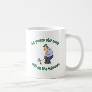65th Birthday Golfer Gag Gift Coffee Mug