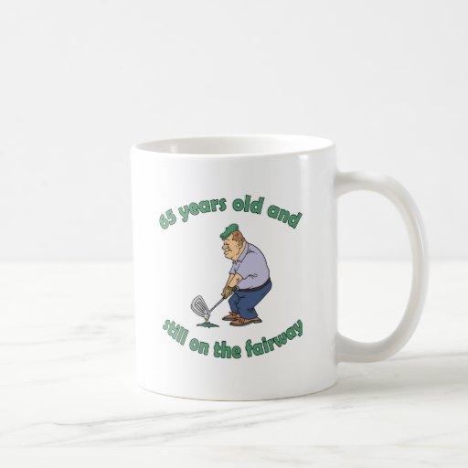 65th Birthday Golfer Gag Gift Mug