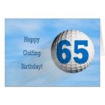 65th birthday golfing card