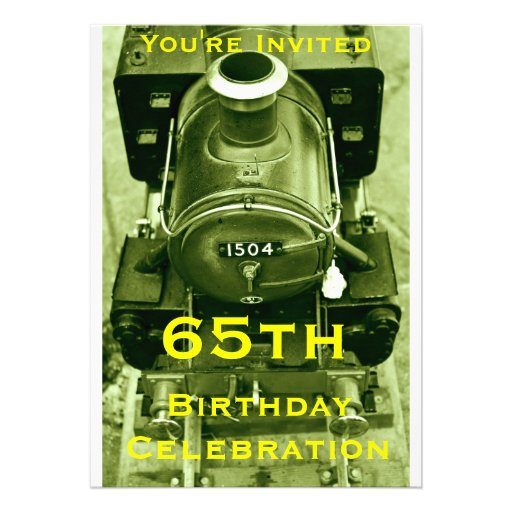 65th Birthday invitation