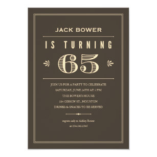 65th Birthday Invitations For Men