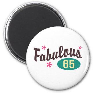 65th Birthday 6 Cm Round Magnet