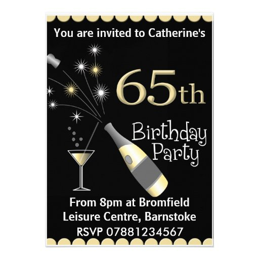 65th Birthday Party Invitation