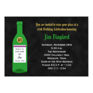 65th Birthday Party Invitation Chalkboard