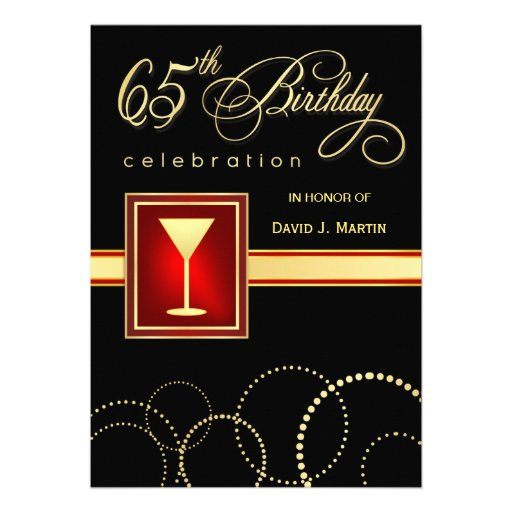 65th Birthday Party Invitations