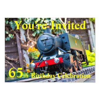 65th Birthday party invite