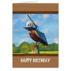 65th Birthday, Pelican with Golf Ball Card