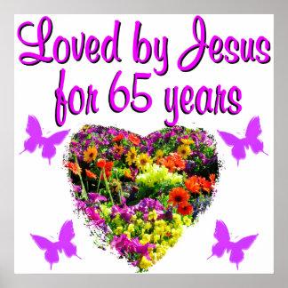 65TH BIRTHDAY RELIGIOUS POSTER