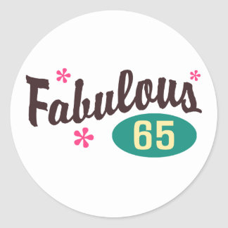 65th Birthday Round Sticker