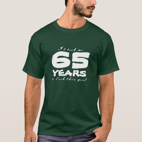 65th Birthday shirt   Customisable year number