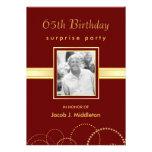 65th Birthday Surprise Party - Photo Optional Custom Invite