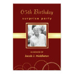 65th Birthday Surprise Party - Photo Optional Custom Invite