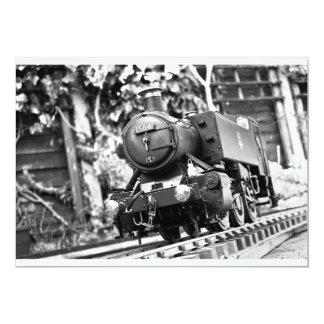 65th Birthday train invite