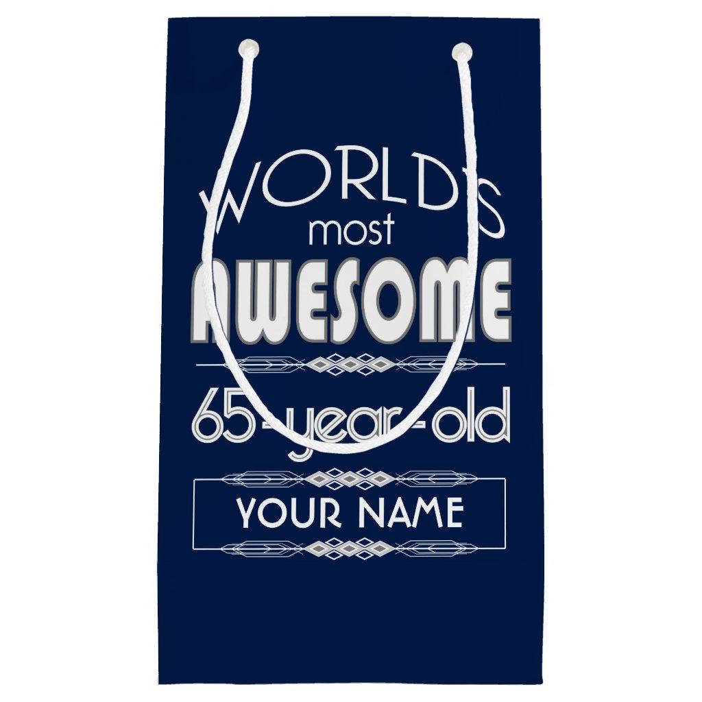 65th Birthday Worlds Best Fabulous Dark Blue