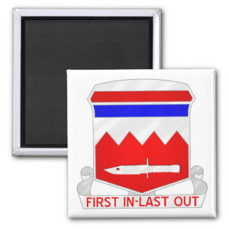 65th Engineer Battalion Square Magnet