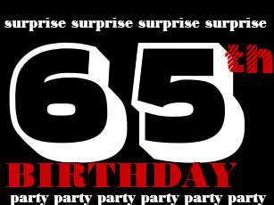 65th SURPRISE Birthday Party Invitation Template