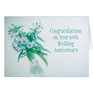 65th Wedding Anniversary Card