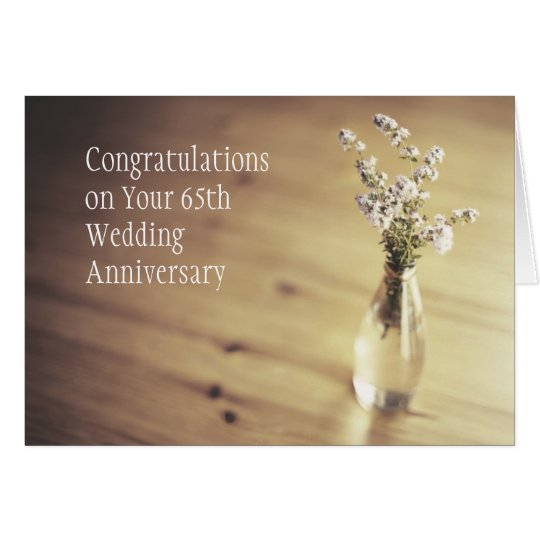 65th wedding anniversary card. Black Bedroom Furniture Sets. Home Design Ideas