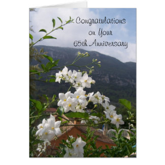 65th Wedding Anniversary Jasmine Card