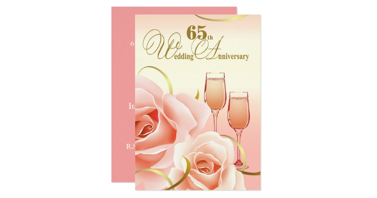 65th wedding anniversary party invitations. Black Bedroom Furniture Sets. Home Design Ideas