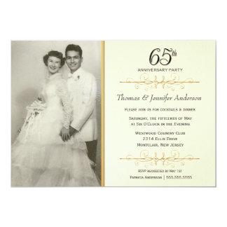 65th Wedding Anniversary Party Invitations