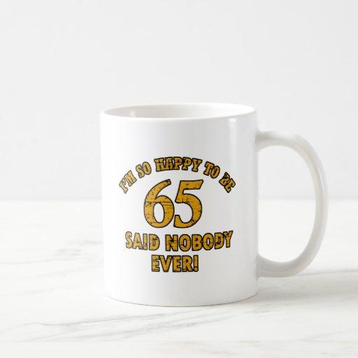 65th year old gifts coffee mug