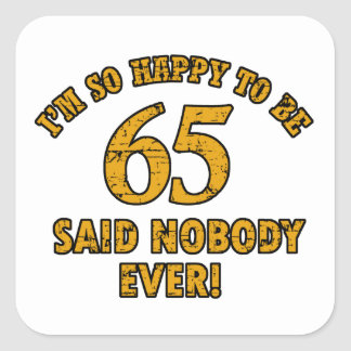 65th year old gifts stickers
